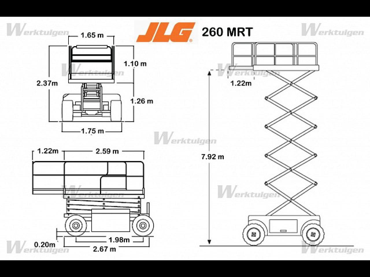 JLG-260-MRT-Scissor-lift-Diagram